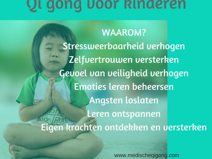Qi gong voor kinderen, onze toekomst…